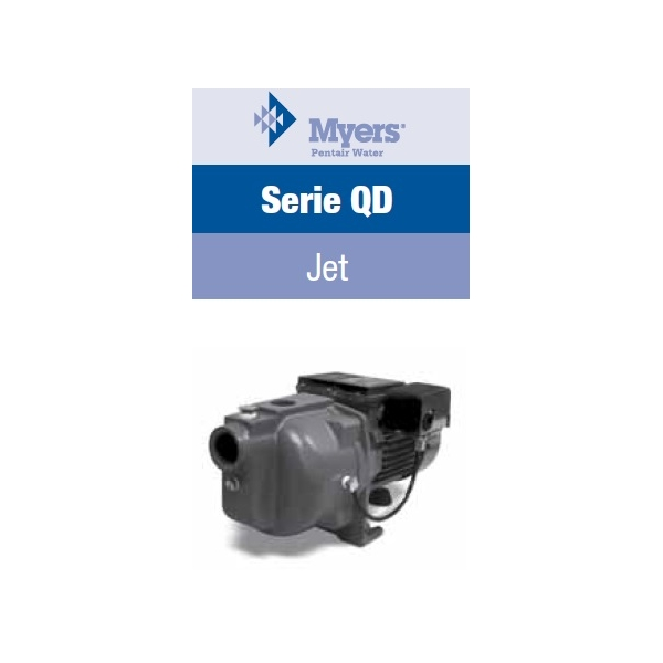Motobomba Myers QD100S, de 1 HP, 115/230 Volts