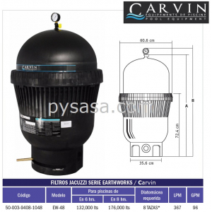 Filtro EarthWorks Modelo EW-48, Carvin