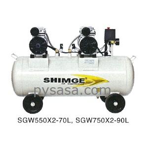 Compresor libre de aceite Shimge modelo: SGW750X2-90L
