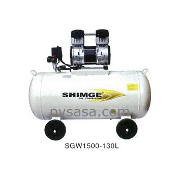 Compresor libre de aceite shimge modelo sgw1500 130l for Aceite para compresor