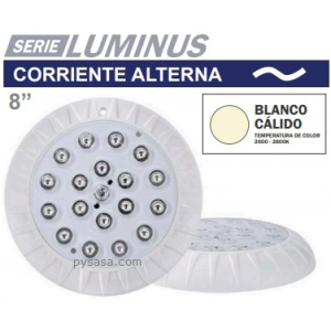 Lámpara Led Acero Inox. Color, con Nicho, 12W, modelo LLN-SS-COL-12W