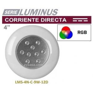 Lámpara Led Acero Inox  Color, con Nicho, 36W, modelo LLN-SS-COL-36W