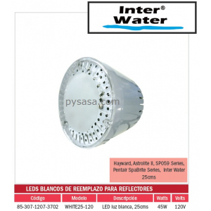 LED de Remplazo de Alta Intensidad White25-120, marca Inter Water