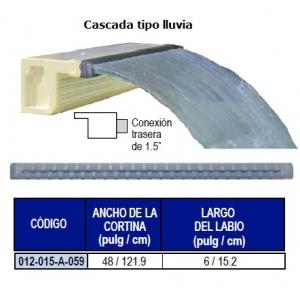 Cascada Decorativa Tipo Lluvia, 48pulgadas (121.9cm) Conexión Trasera