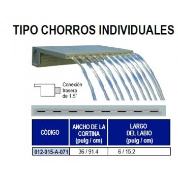 Cascada decorativa tipo chorros individuales 36pulgadas for Chorros para piscinas precios