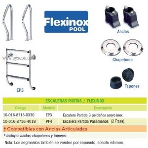 Escalera Partida con Pasamanos Flexinox