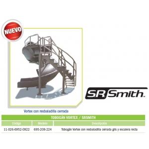 Tobogán Vortex con resbaladilla cerrada gris y escalera recta modelo 695-209-224
