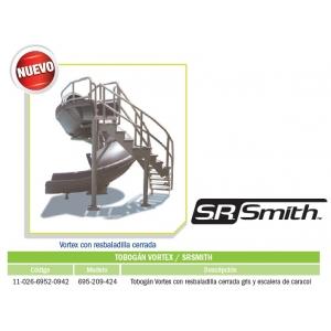 Tobogán Vortex con resbaladilla cerrada gris y escalera de caracol modelo 695-209-424
