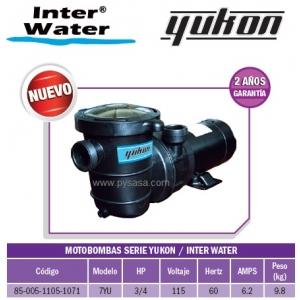 Motobomba Yukon , 3/4 HP, Modelo 7YU  - Inter Water.