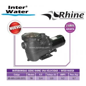 Motobomba RHINE, 3/4 HP, Modelo 7RI  - Inter Water