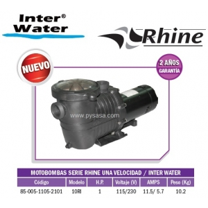 Motobomba RHINE, 1HP, Modelo 10RI  - Inter Water