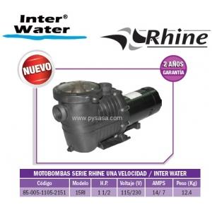 Motobomba RHINE, 1 1/2HP, Modelo 15RI  - Inter Water