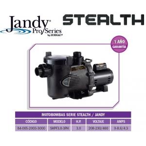 Motobomba STEALTH  Modelo SHPF3.0-3PH, 3HP, 3 Fases 208/230/460 VAC- Jandy