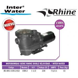 Motobomba RHINE DOBLE VELOCIDAD, 1 1/2 HP, Modelo 15RI-2  - Inter Water