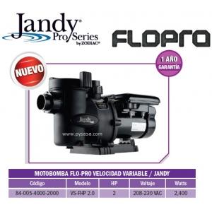 Motobomba Flopro  DOBLE VELOCIDAD 2 HP, Modelo VS-FHP2.0 - Jandy