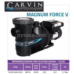 Motobomba Magnum velocidad Variable 2.7 HP, Modelo VMF-S2  - Carvin