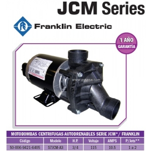 Motobomba JCM 3/4 HP, Modelo S7JCM-A3 - Franklin Electric