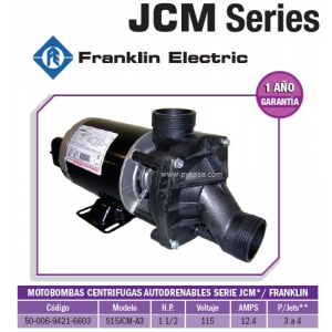 Motobomba JCM 1 1/2 HP, Modelo S15JCM-A3 - Franklin Electric