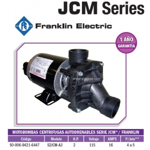 Motobomba JCM 2 HP, Modelo S2JCM -A3  Franklin Electric