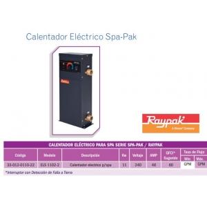Calentador Eléctrico para SPA . 11KW. Modelo. E3T-110. Raypak