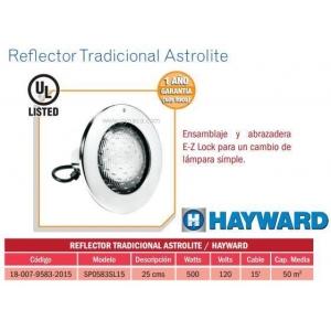 Reflector Tradicional Astrolite . Modelo. SP0583SL15. HAYWARD