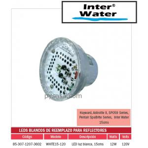 LED de Remplazo de Alta Intensidad White15-120, marca Inter Water