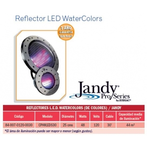 Reflector LED WaterColors. Modelo.CPHVLEDS30. Jandy
