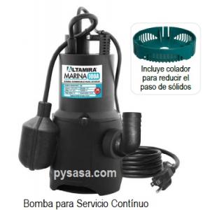 Motobomba Sumergible marca Altamira serie MARINA 100A, 1/2 Hp, 1 Fase, 115Volts