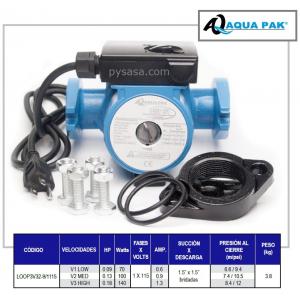 Bomba Circuladora de Agua Caliente marca Aqua Pak, 3 Velocidades, 1.5