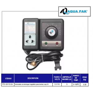 Termostato con Termopar magnético, marca Aqua Pak