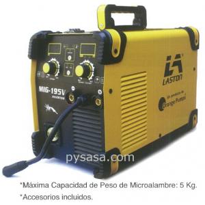 Soldadora tipo Inversor por Arco de Gas para Micro Alambre marca LASTON modelo MIG/MMA-195V, 1 Fase,  127/220 Volts