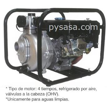Bomba de Agua Autocebante, con motor a gasolina de 8 HP - CGHP40, 1.5
