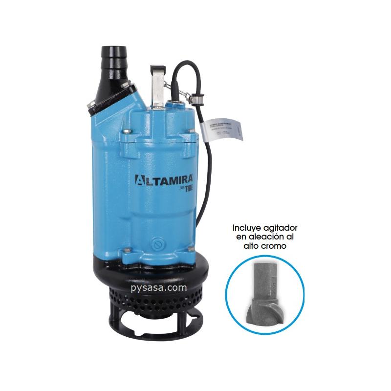 Bomba sumergible con Agitador  para Efluentes, marca Altamira, 2Hp, 3Fases, 230Volts, 2