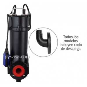 Motobomba sumergible Trituradora Altamira, 3 Hp, 3 Fases, 230 Volts, Descarga 1.5