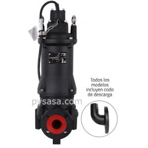 Motobomba sumergible Trituradora Altamira, 7.5 Hp, 3 Fases, 460 Volts, Descarga 2