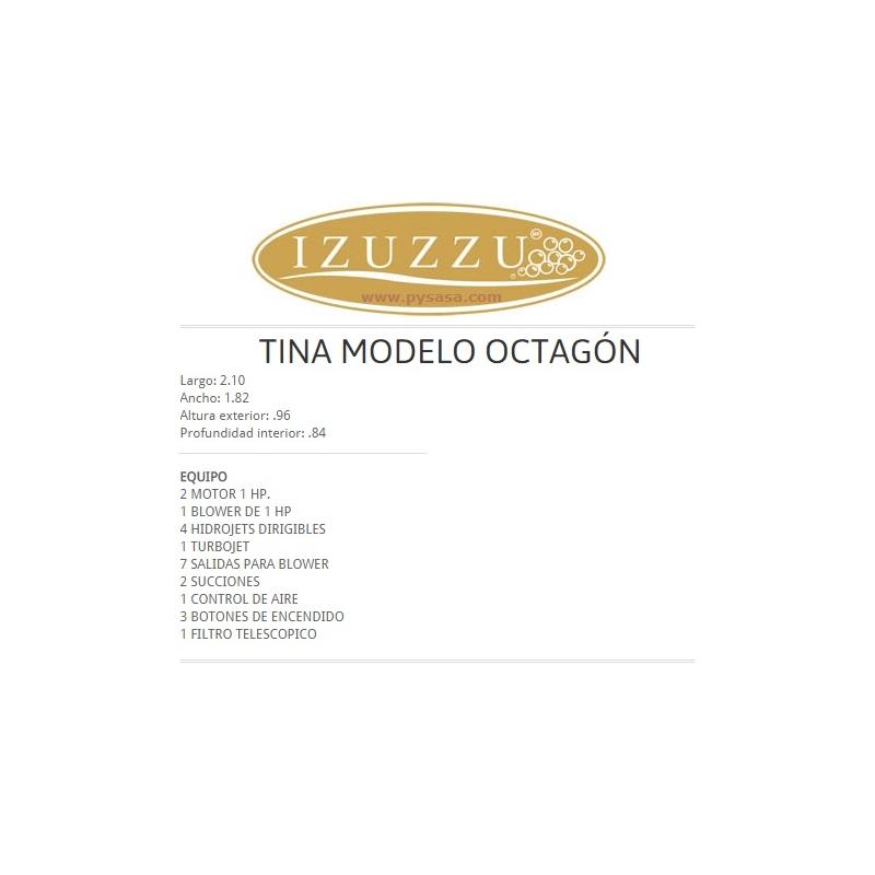 Tina Hidromasaje SPA, marca Izuzzu, modelo OCTAGON, para 5 personas