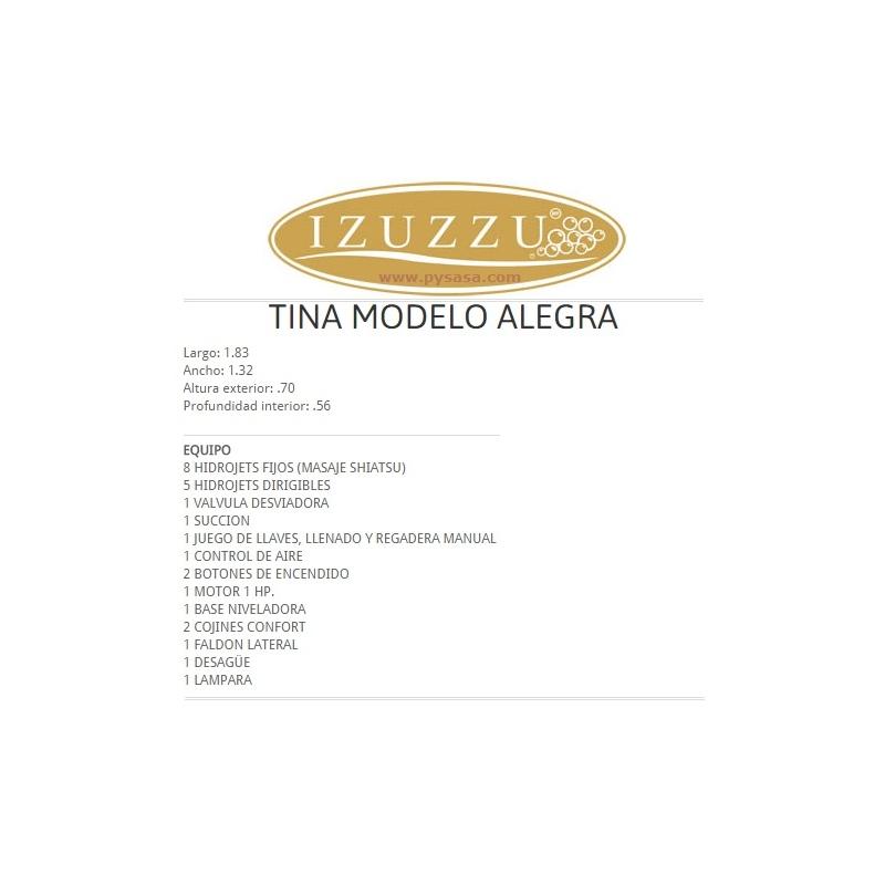 Tina Hidromasaje SPA, marca Izuzzu, modelo ALEGRA, para 2 personas ...