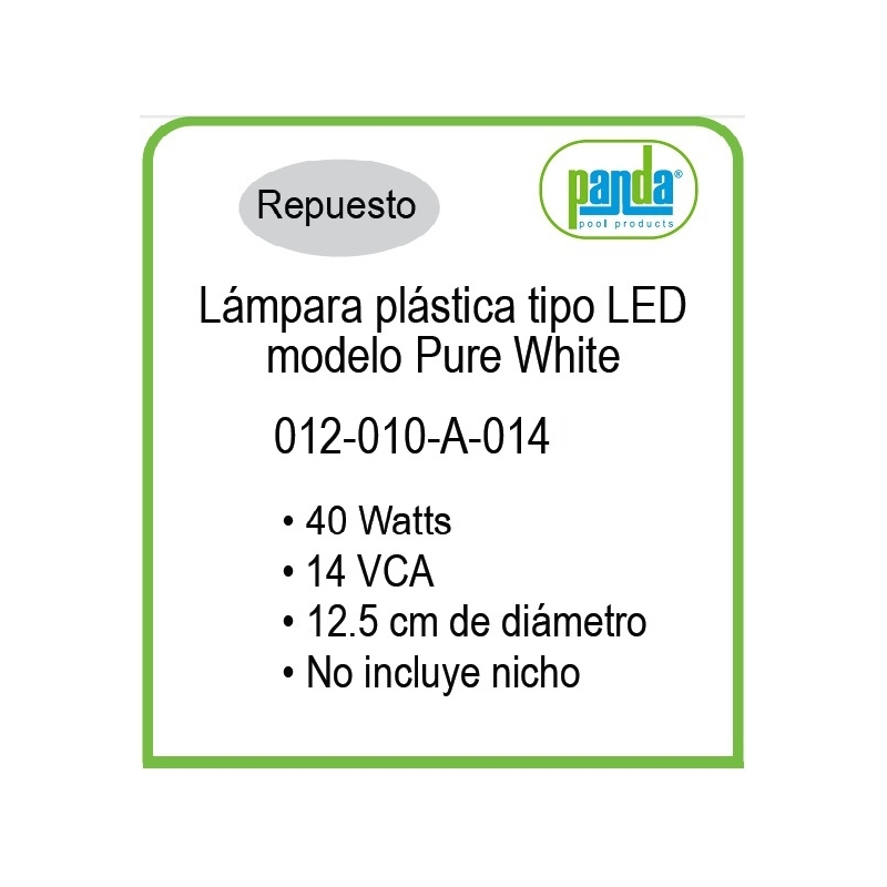 LED de Remplazo de Alta Intensidad White25-120, marca Inter Water