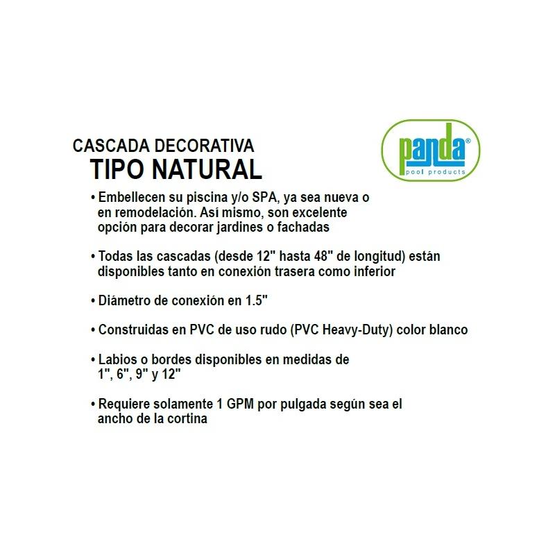 Cascada Decorativa Tipo Natural, 12pulgadas (30.4cm) Conexión Trasera