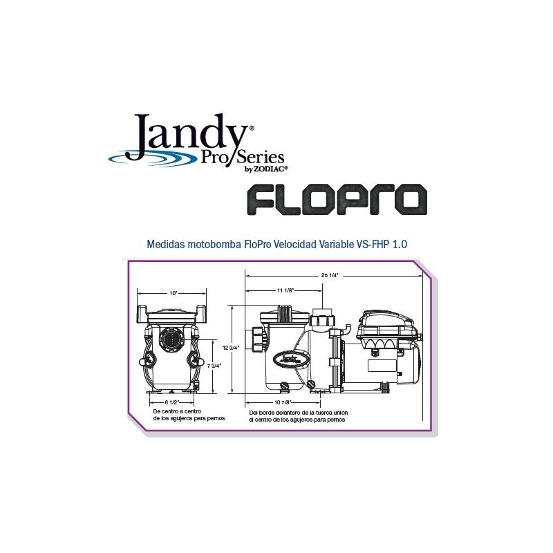 Motobomba Flo Pro Velocidad Variable, 1HP. Modelo VS-FHP 1.0