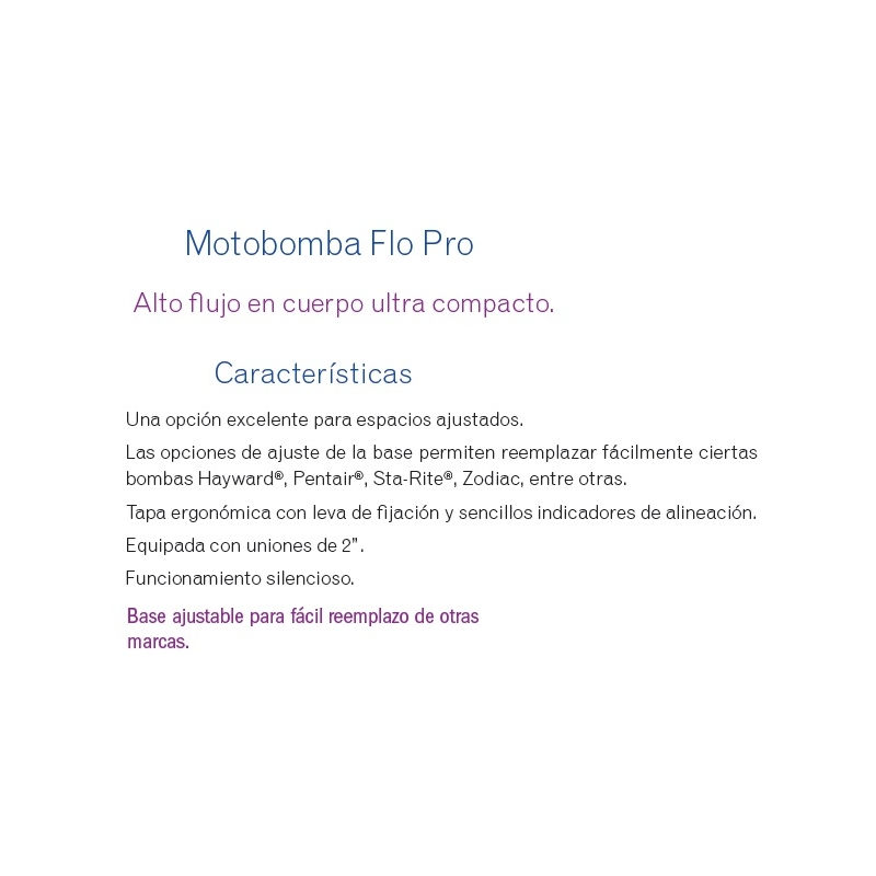 Motobomba Flopro 1 HP, Modelo FHPM1.0  - Jandy