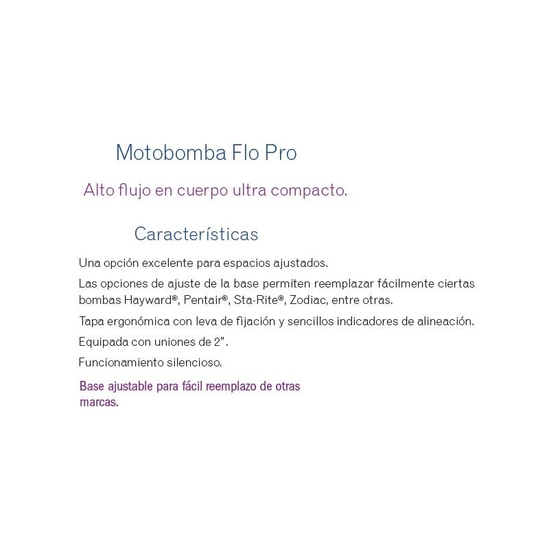 Motobomba Flopro 2.5 HP, Modelo FHPM2.5  - Jandy