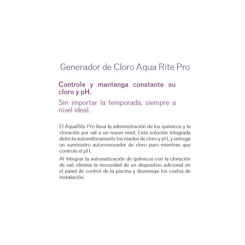Generador de cloro Aqua Rite Pro. Modelo AQL-CHEM. HAYWARD