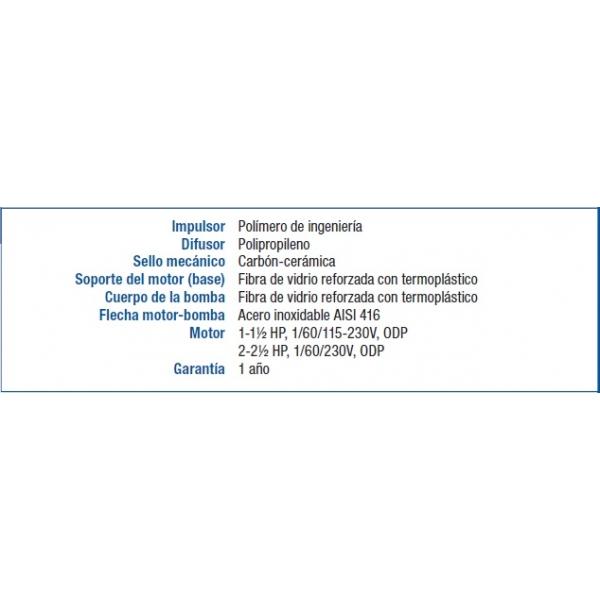 Motobomba STA-RITE PDHG, 230Volts, 2HP
