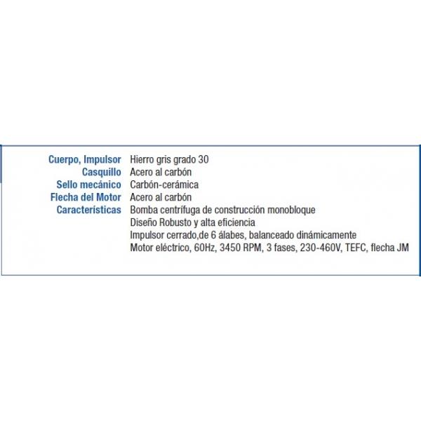 Motobomba BERKELEY K1L,  C11011H, de 3 HP, 3Fases, 220/440Volts