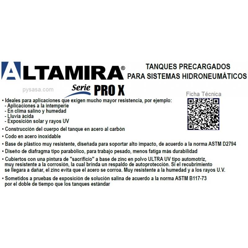 Tanque  Precargados ALTAMIRA ALTAPRO XLB119, 119 Galones (125psi)
